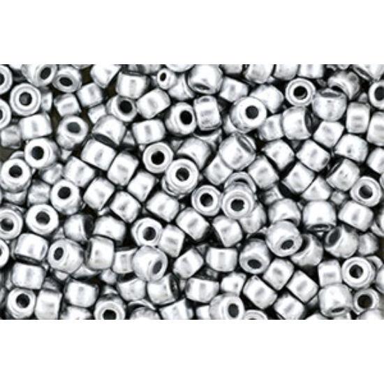 Matubo - 6/0 - Matte - Metallic Silver - K0170