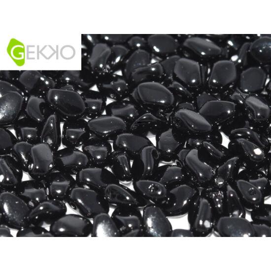 Gekko - 3x5mm - Cseh préselt szirom gyöngy - JET - 23980