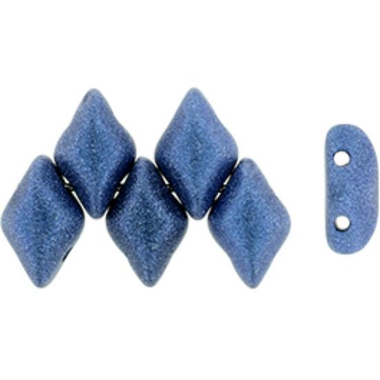 GEMDUO - 8x5mm - Metallic Suede - Blue - 79031MJT