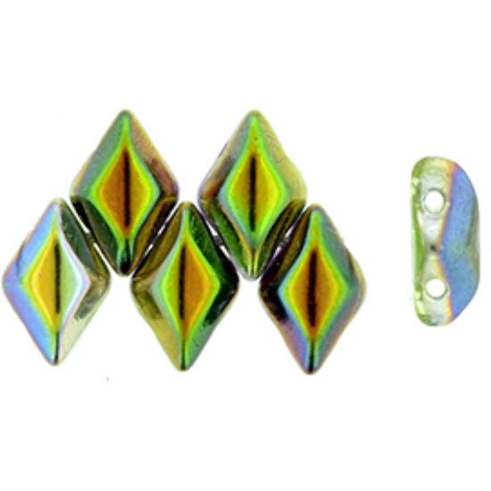 GEMDUO - 8x5mm - Magic Line - Violet/Green - 95000CR