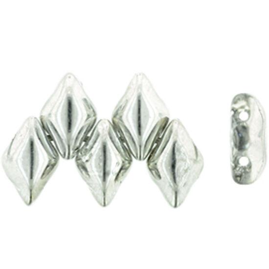 GEMDUO - 8x5mm - Silver 1/2 gyöngy