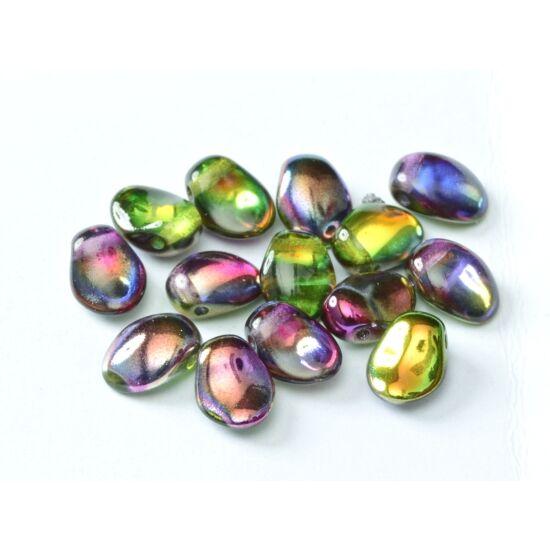 Préselt virágszirom gyöngy - Tulip Petal - 6x8 mm - CRYSTAL MAGIC ORCHID