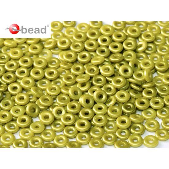 O-gyöngy- Pasztell Lime zöld- 3,8x1mm
