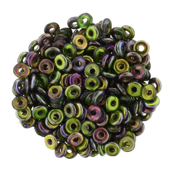 O-gyöngy - Magic Line - Violet/Green- 3,8x1mm - 95000CR