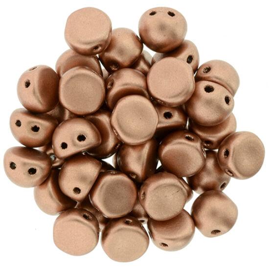 2-LYUKÚ CABOCHON - 7 MM - Matte - Metallic Copper - K0177JT