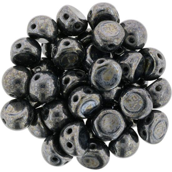 2-LYUKÚ CABOCHON - 7 MM -  Hematite - L23980