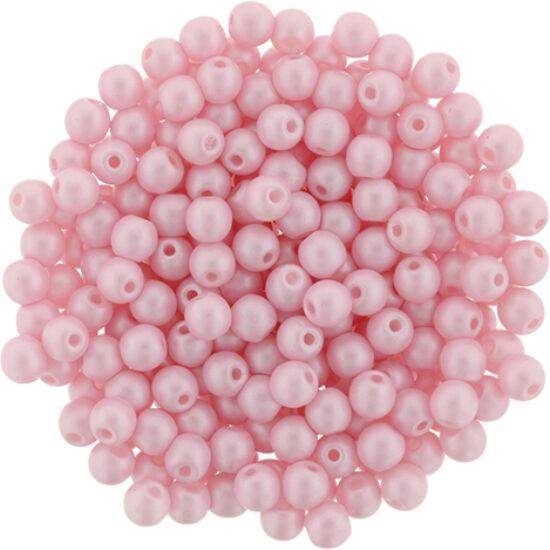 3 MM Powdery - Pastel Pink- Cseh préselt gyöngy