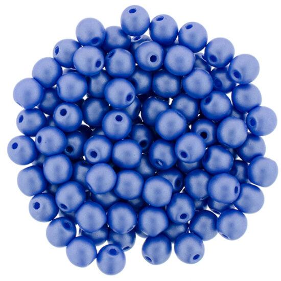 4 MM Powdery - Blue- Cseh préselt gyöngy