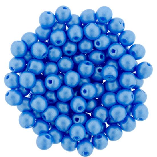 4 MM Powdery - Lt Blue- Cseh préselt gyöngy