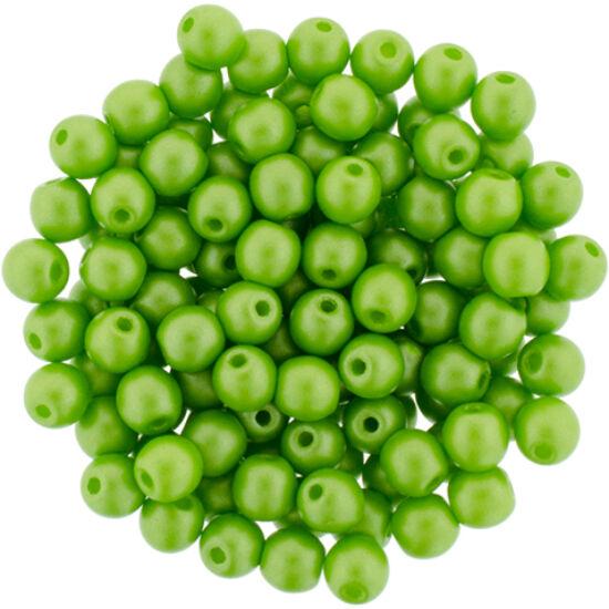 4 MM Powdery - Lime- Cseh préselt gyöngy