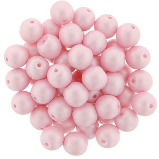 6 MM Powdery - Pastel Pink- Cseh préselt gyöngy