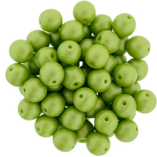 6 MM Powdery - Lime- Cseh préselt gyöngy