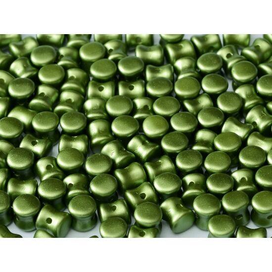 4x6mm Pasztell Olíva színű, Diabolo/Pellet gyöngy