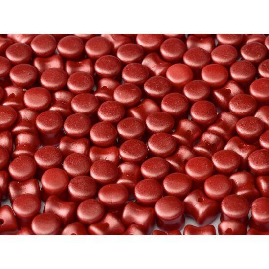 4x6mm Pasztell Sötét Korall színű, Diabolo/Pellet gyöngy