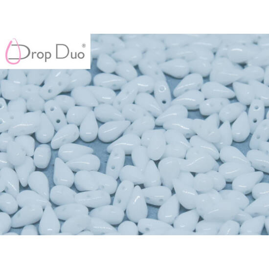 DropDuo - 3 X 6 MM - CHALK WHITE - 03000