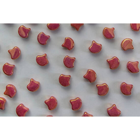 Ginko - 7,5x7,5mm - Luster - Metallic Red - LK03000