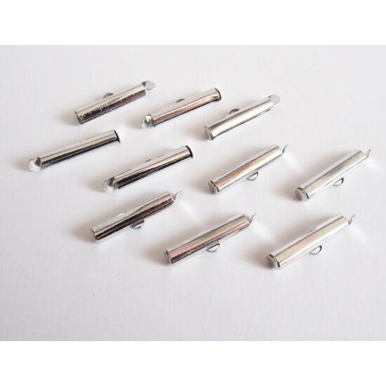 20mm-es cső végzáró, Platina ezüst színben