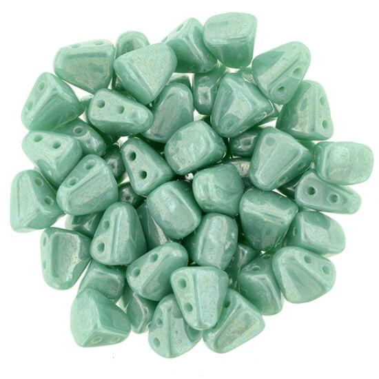 NIB-BIT - 6x5mm - Luster - Opaque Turquoise