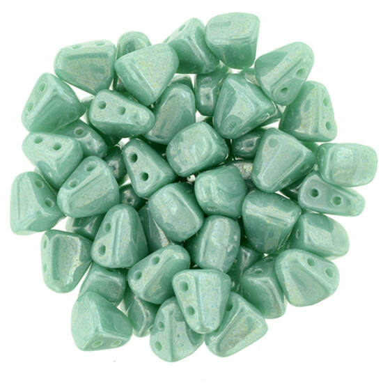 NIB-BIT - 6x5mm - Luster - Opaque Turquoise - L63130