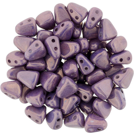 NIB-BIT - 6x5mm - Luster - Metallic Amethyst Chalk
