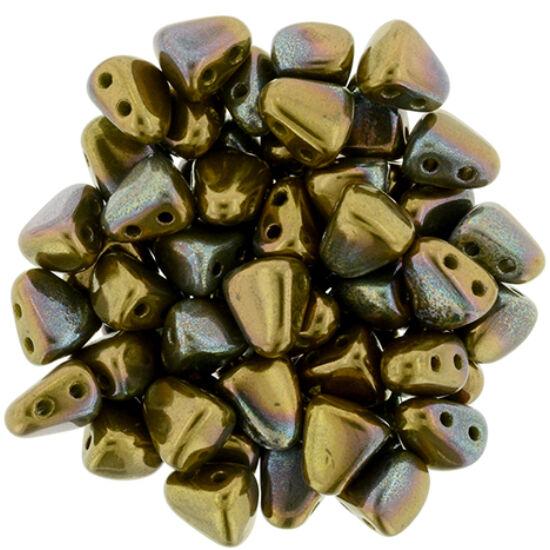 NIB-BIT - 6x5mm - Opaque Olive - Bronze Vega
