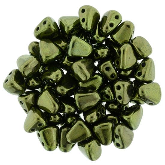 NIB-BIT - 6x5mm - Luster - Metallic Olivine