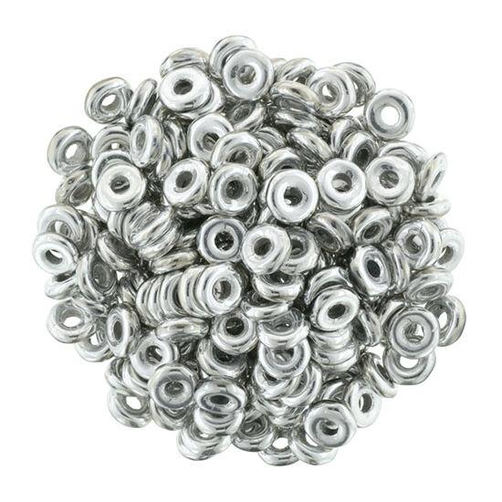 O-gyöngy - Ezüst - 3,8x1mm - 27000CR
