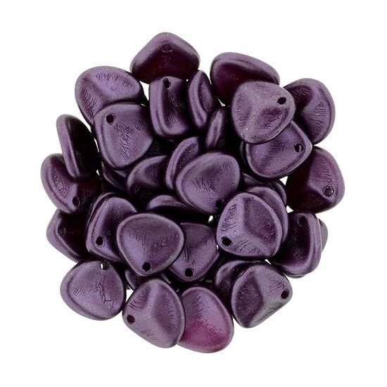Petal - 8x7mm - Pearl Coat - Purple Velvet