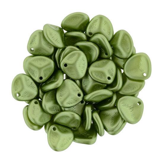 Petal - 8x7mm - Pearl Coat - Olive