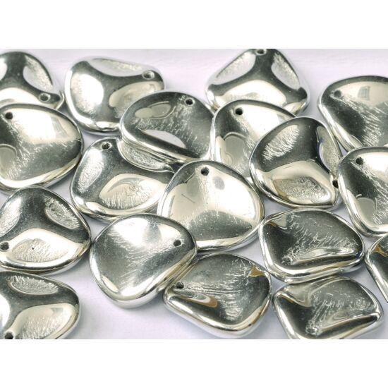 Petal gyöngy 14x13mm - JET LABRADOR FULL - 27000