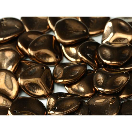 Petal gyöngy - 14x13mm - JET BRONZE - 23980/14415