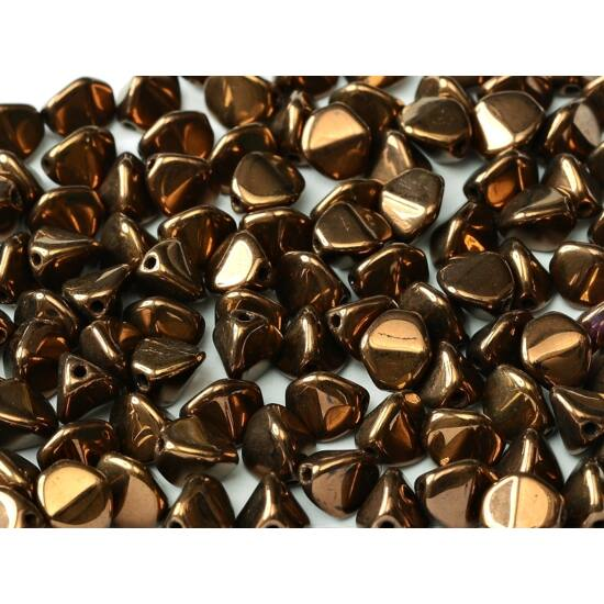 5 X 3 MM JET BRONZE- Pinch gyöngy