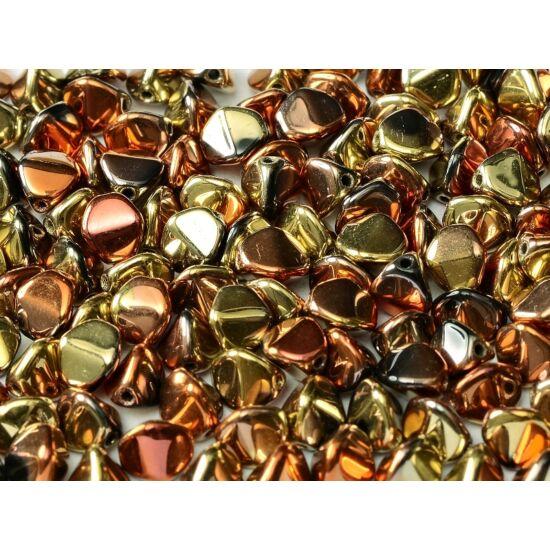 5 X 3 MM JET CALIFORNIA GOLD RUSH, Pinch gyöngy