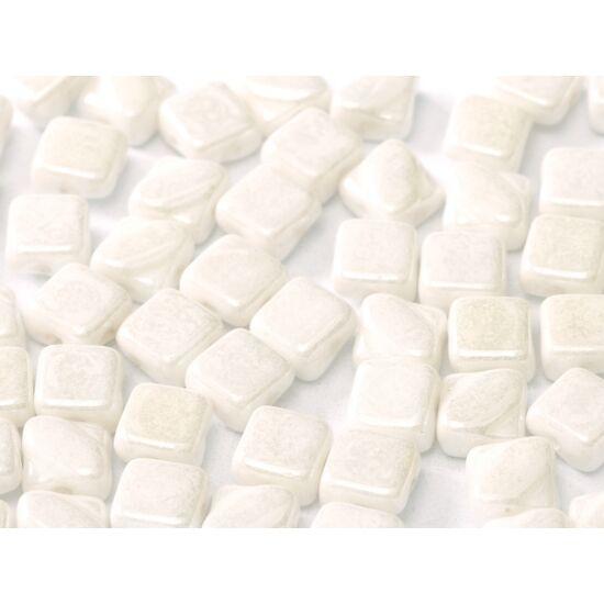 6 X 6 MM ALABASTER SHIMMER, Silky gyöngy- 2 lyukú