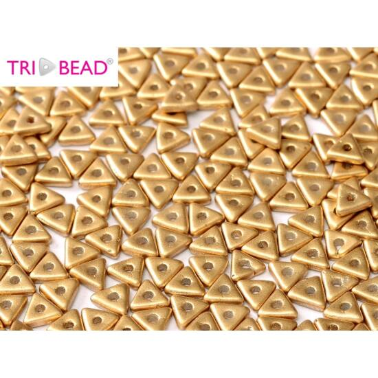 4mm AZTEC GOLD, Tri-Beads