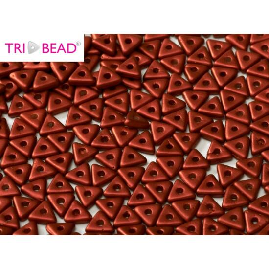 4mm LAVA RED, Tri-Beads