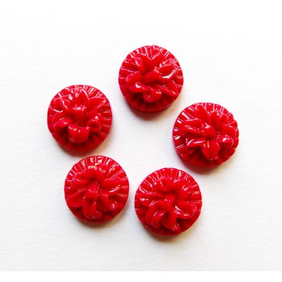 Virág mintájú kaboshon, Pirosas-ciklámen színben