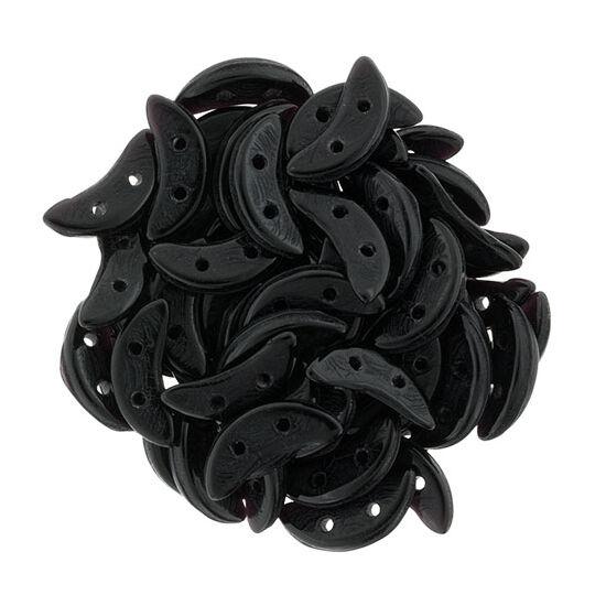 10x4mm Fekete színű Félhold gyöngy