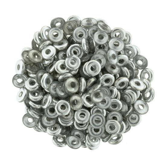 O-gyöngy- Ezüst -Crystal 1/2- 3,8x1mm