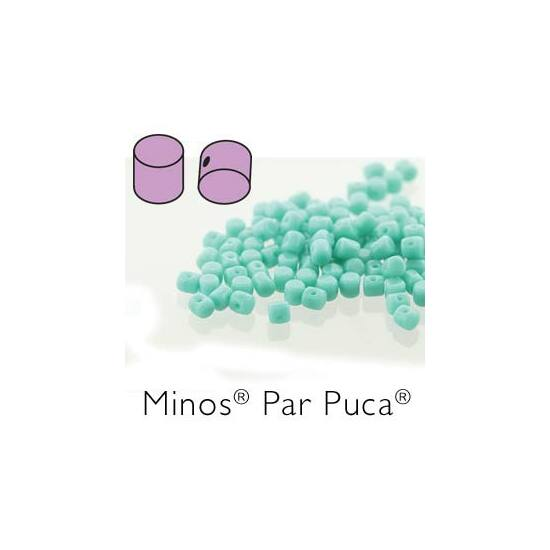 Minos® par Puca®- OPAQUE GREEN TURQUOISE 2,5x3mm