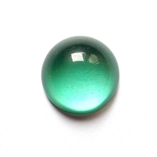 20mm-es Zöld színű, üveglencsés- kaboson alap