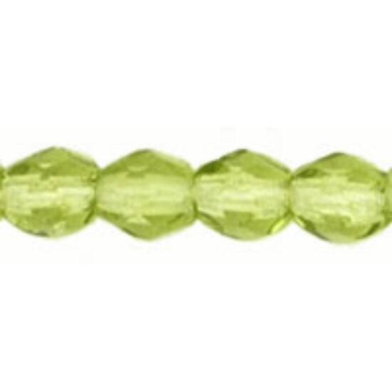 3mm Olivine színű, cseh csiszolt gyöngy