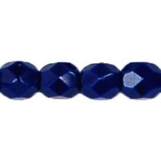 4mm Telt Tengerészkék színű, Cseh csiszolt gyöngy