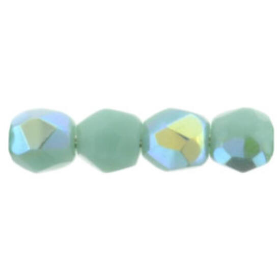 Csiszolt gyöngy- 3mm - Opaque Turquoise AB - X63130