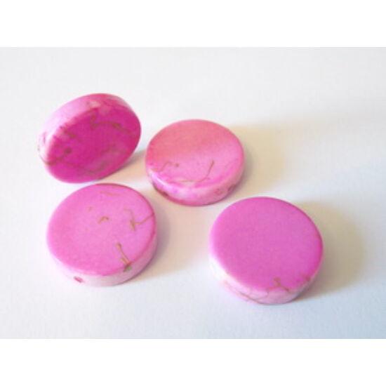 Rózsaszín műanyag korong, arany fröcsköléssel