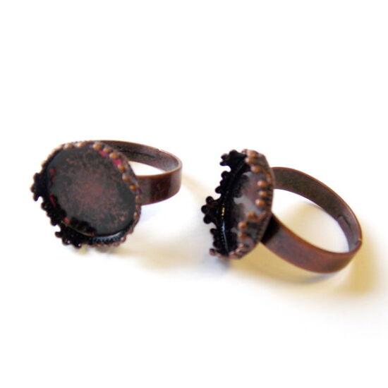 Bronz színű, lencsés gyűrű alap