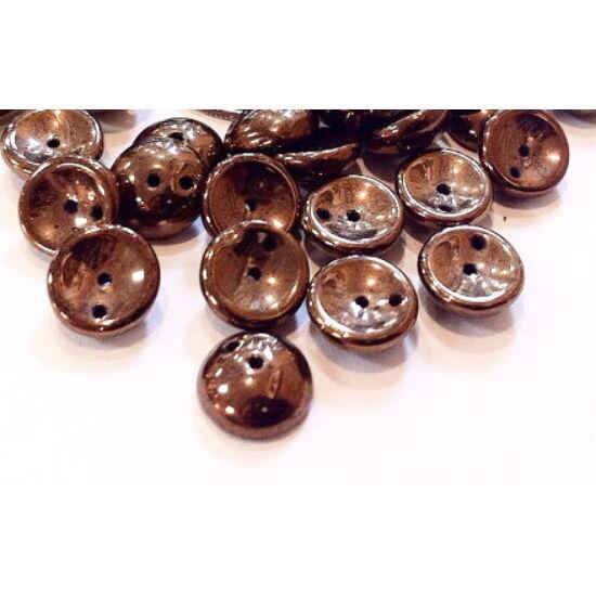 4x8mm fekete- Bronz színű, Piggy gyöngy