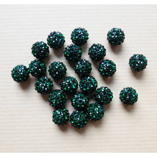 Emerald színű shamballa gyöngy