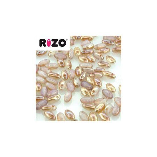 2,5x6mm Fekete California Aranyláz színű, Rizo gyöngy