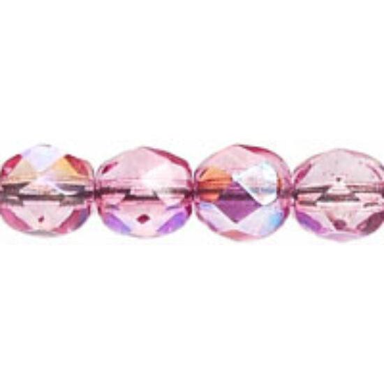 Cseh Csiszolt - 6mm  - Crystal/Violet AB - 45120CR